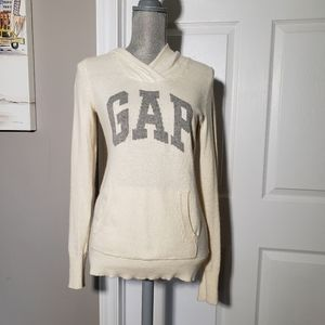 GAP angora blend logo hoodie